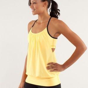 Lululemon Women's Size 6 Yellow No Limits Tank